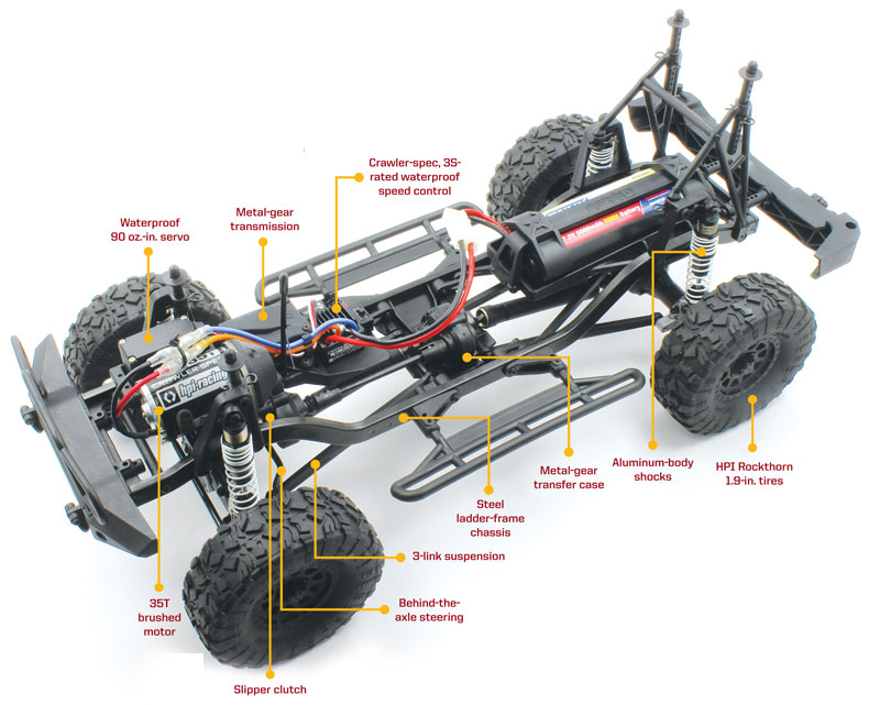 Review: HPI Venture FJ Cruiser - steel ladder chassis